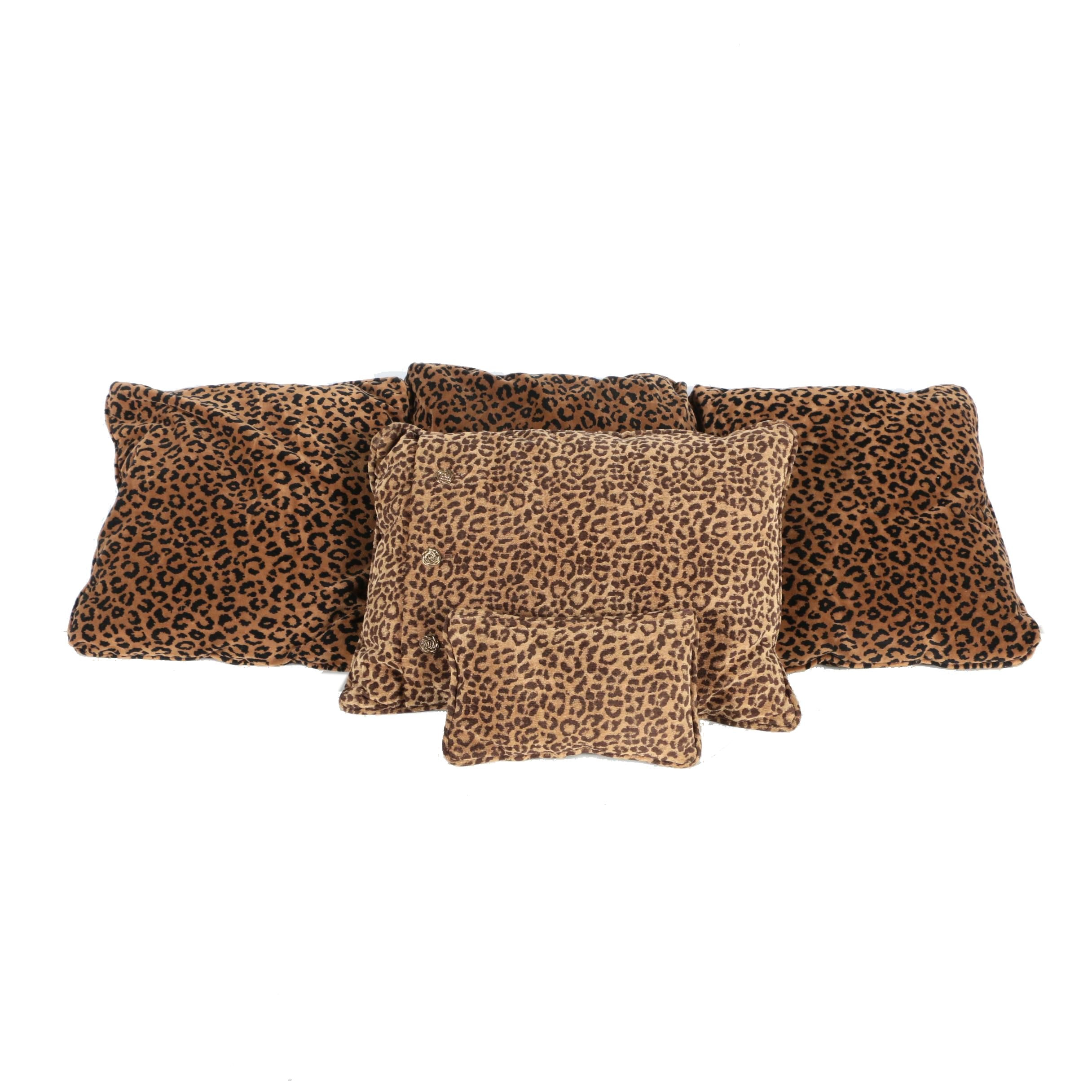 Collection of Leopard Print Accent Pillows