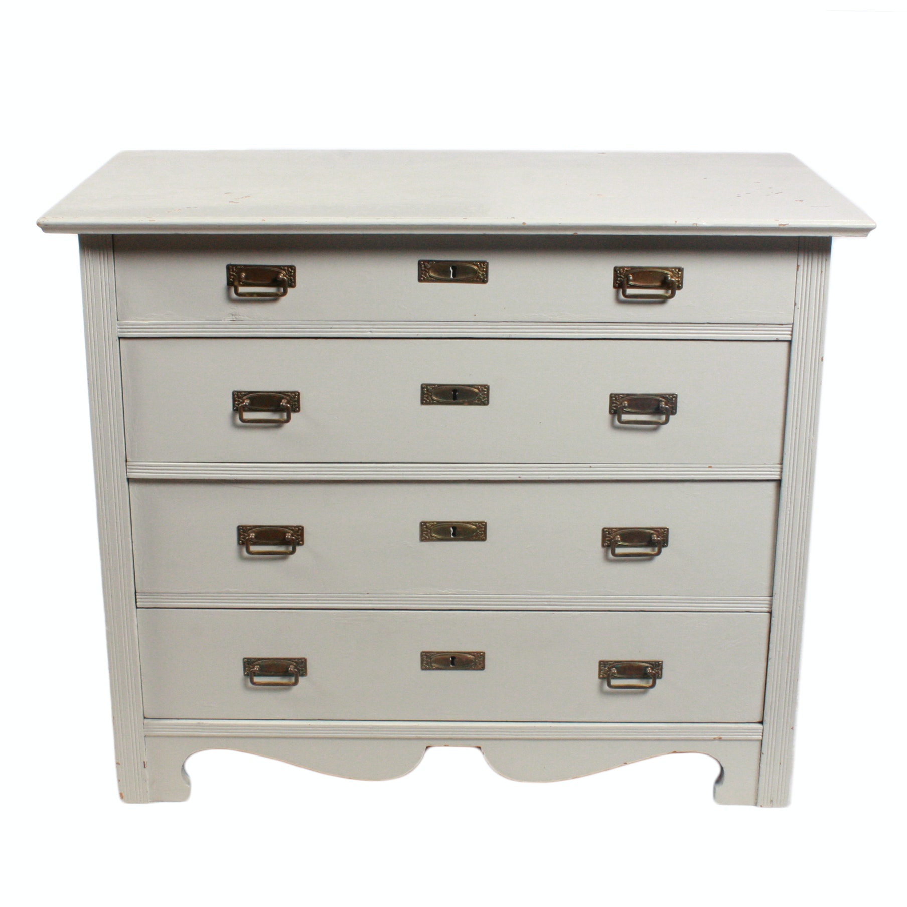 Swedish Style Painted Wood Chest of Drawers