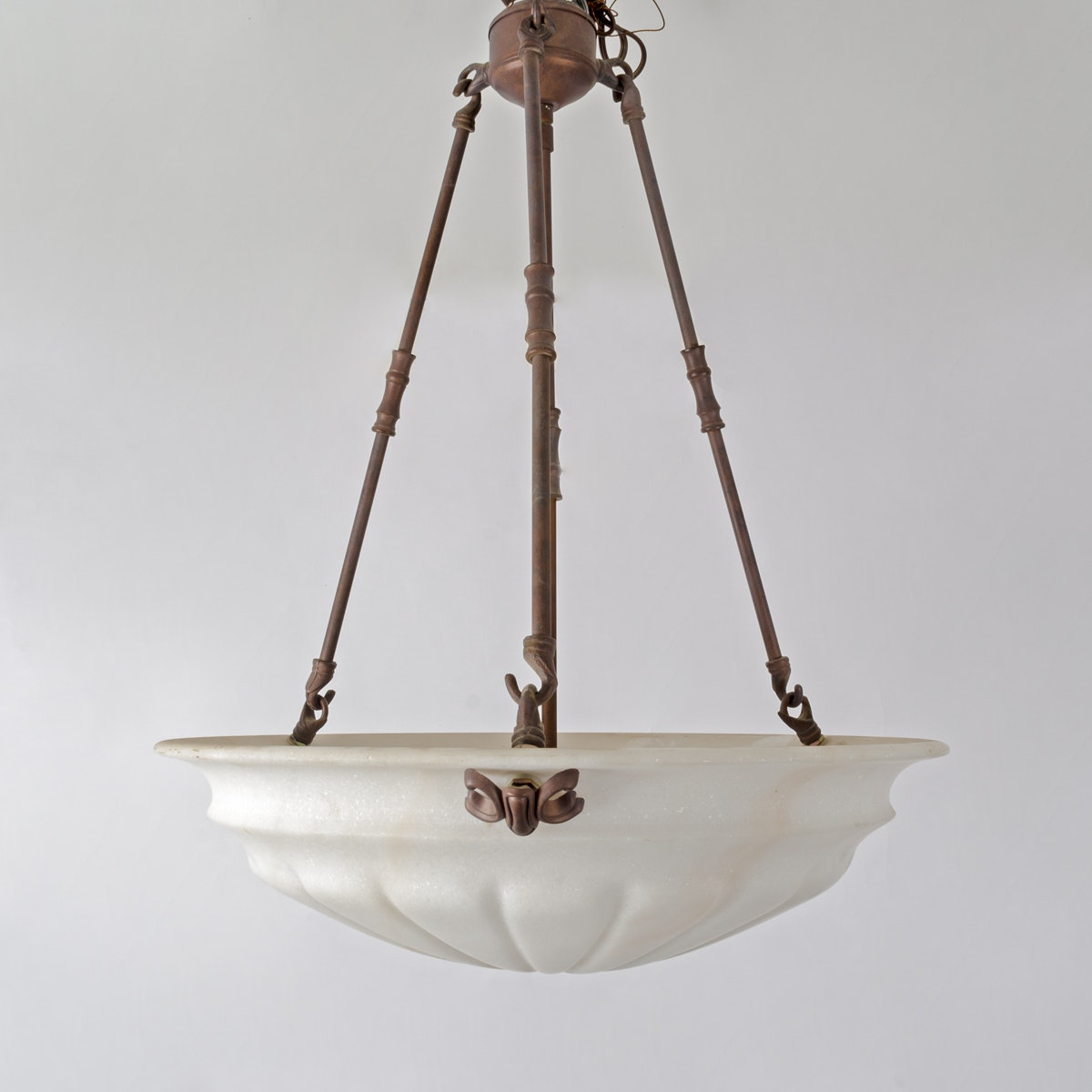 Pendant Chandelier With Frosted White Shade