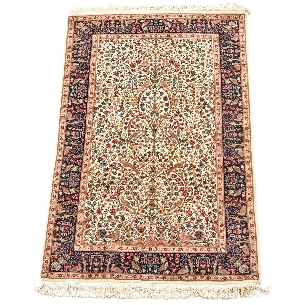 "Hand-Knotted Tabriz ""Tree of Life"" Area Rug"