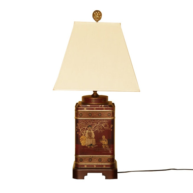 Chinoiserie Tea Tin Table Lamp