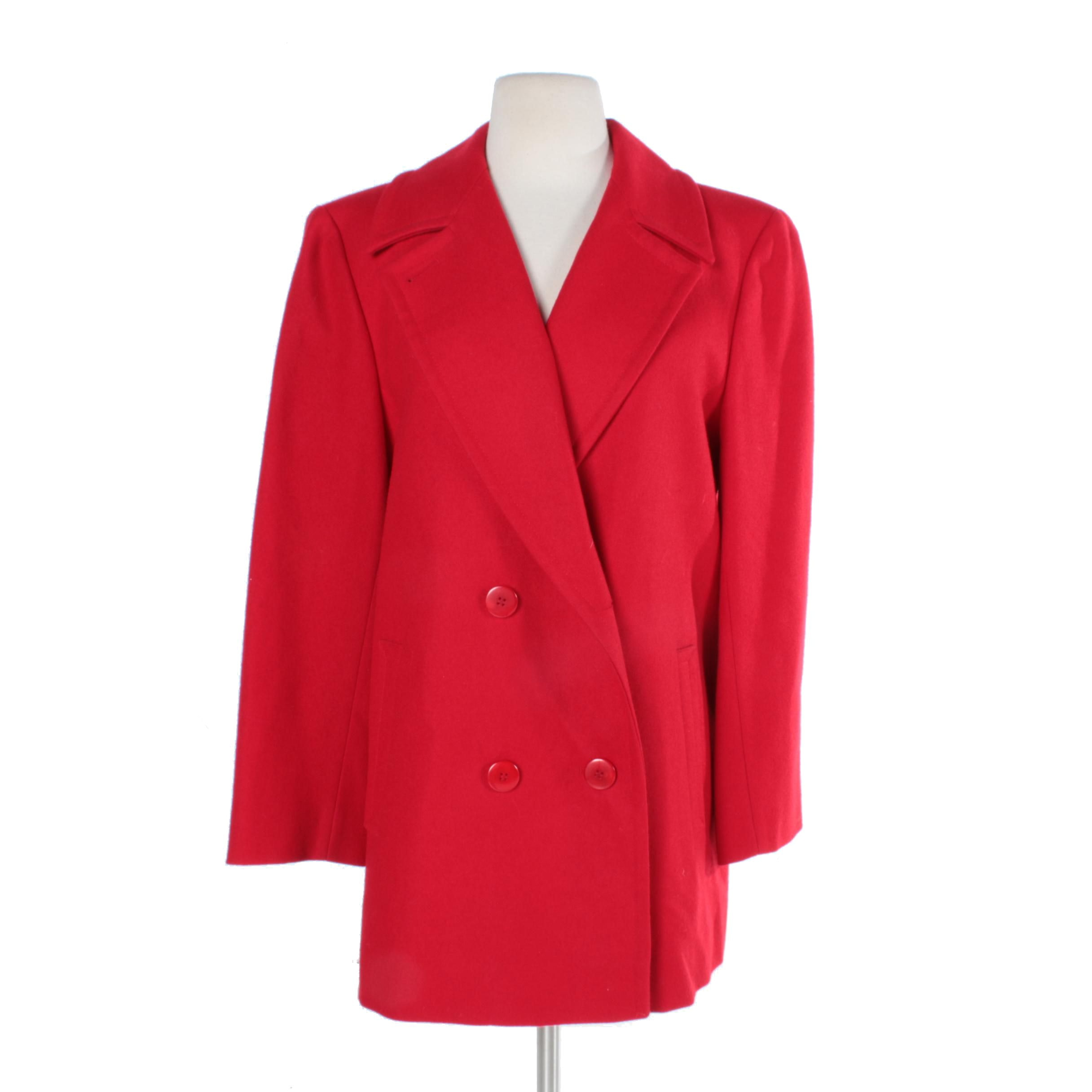 Women's Pendleton Red Wool Coat
