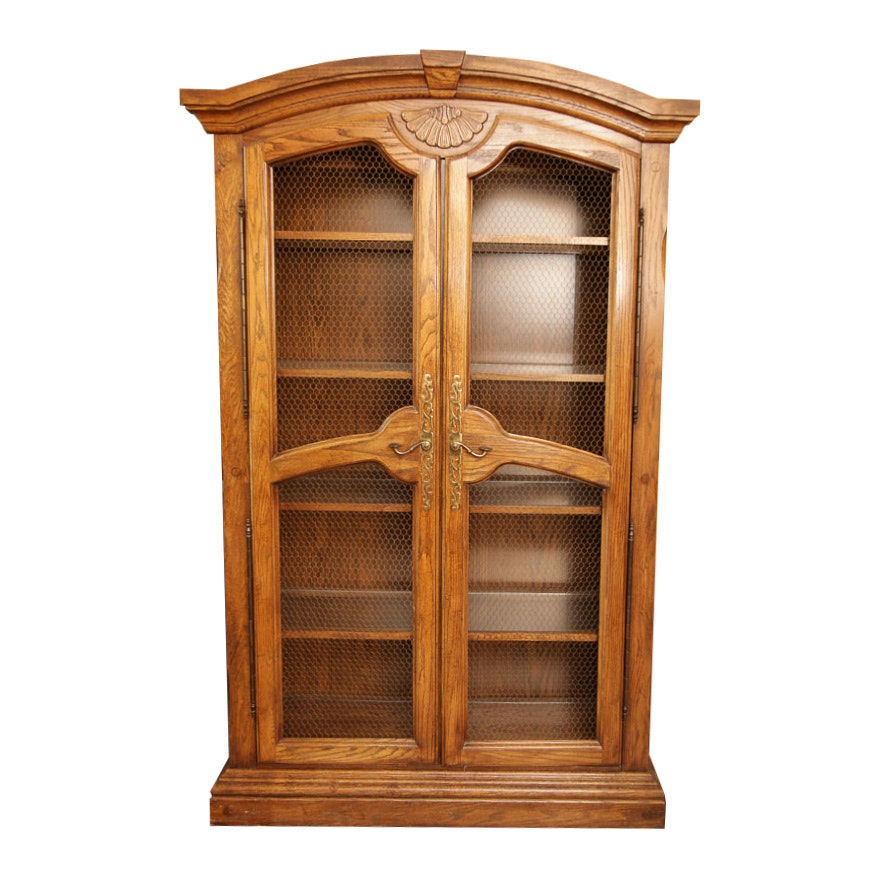 Traditional Style Oak Display Cabinet