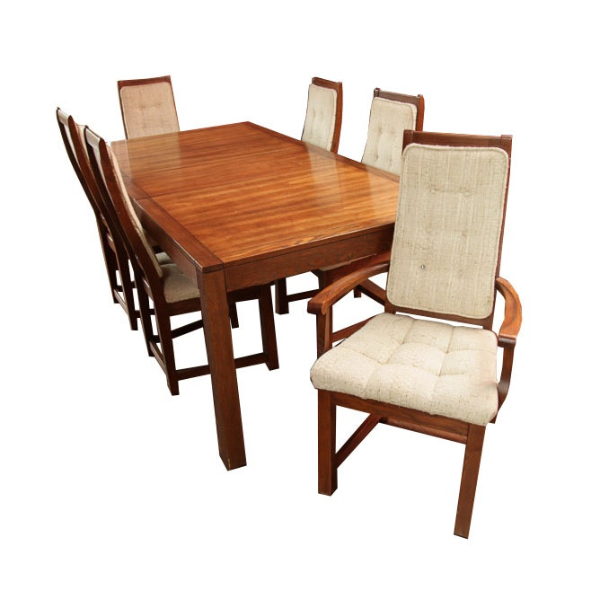 Vintage Dining Table with Chairs by Electrohome Limited