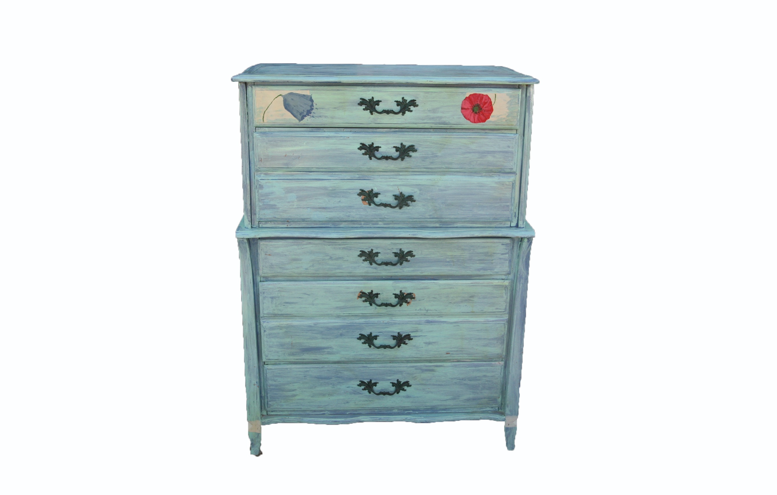 Vintage Painted Chest on Chest