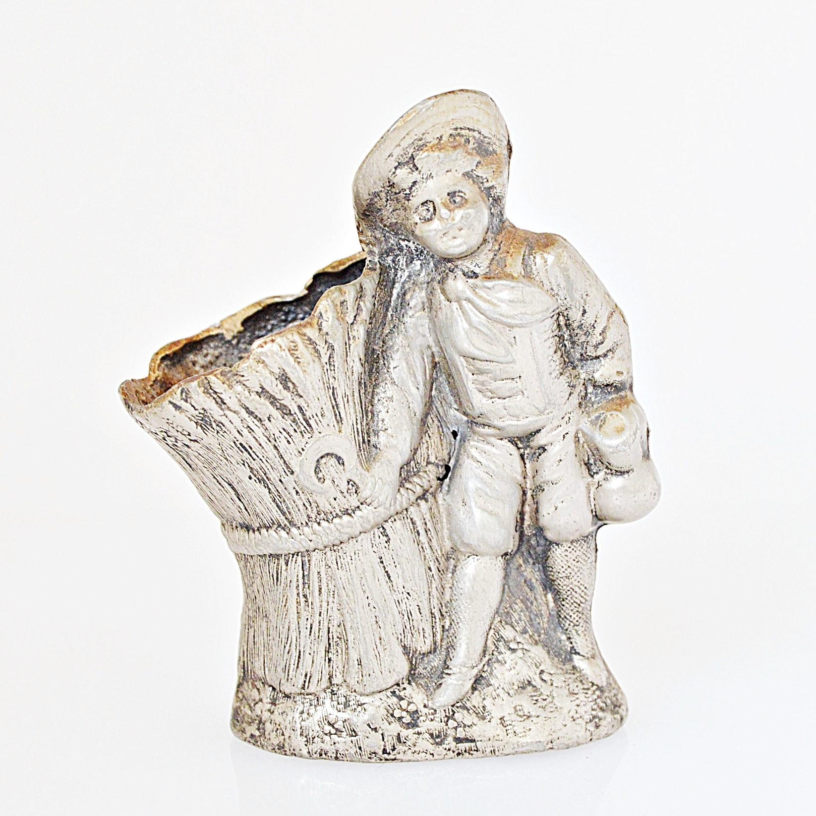 Victorian Spelter Figural Toothpick Holder