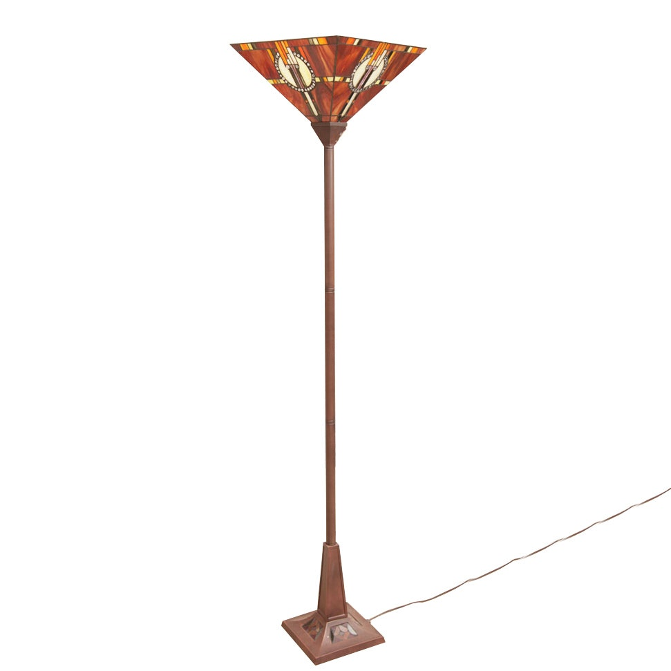 Tiffany Style Torchiere Floor Lamp by Colour Creations