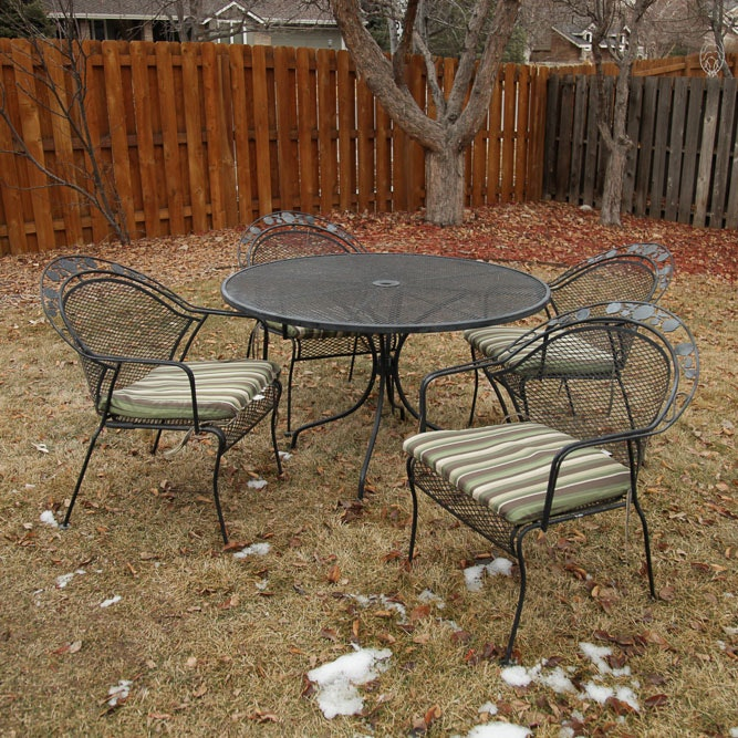 Five-Piece Metal Patio Dining Set