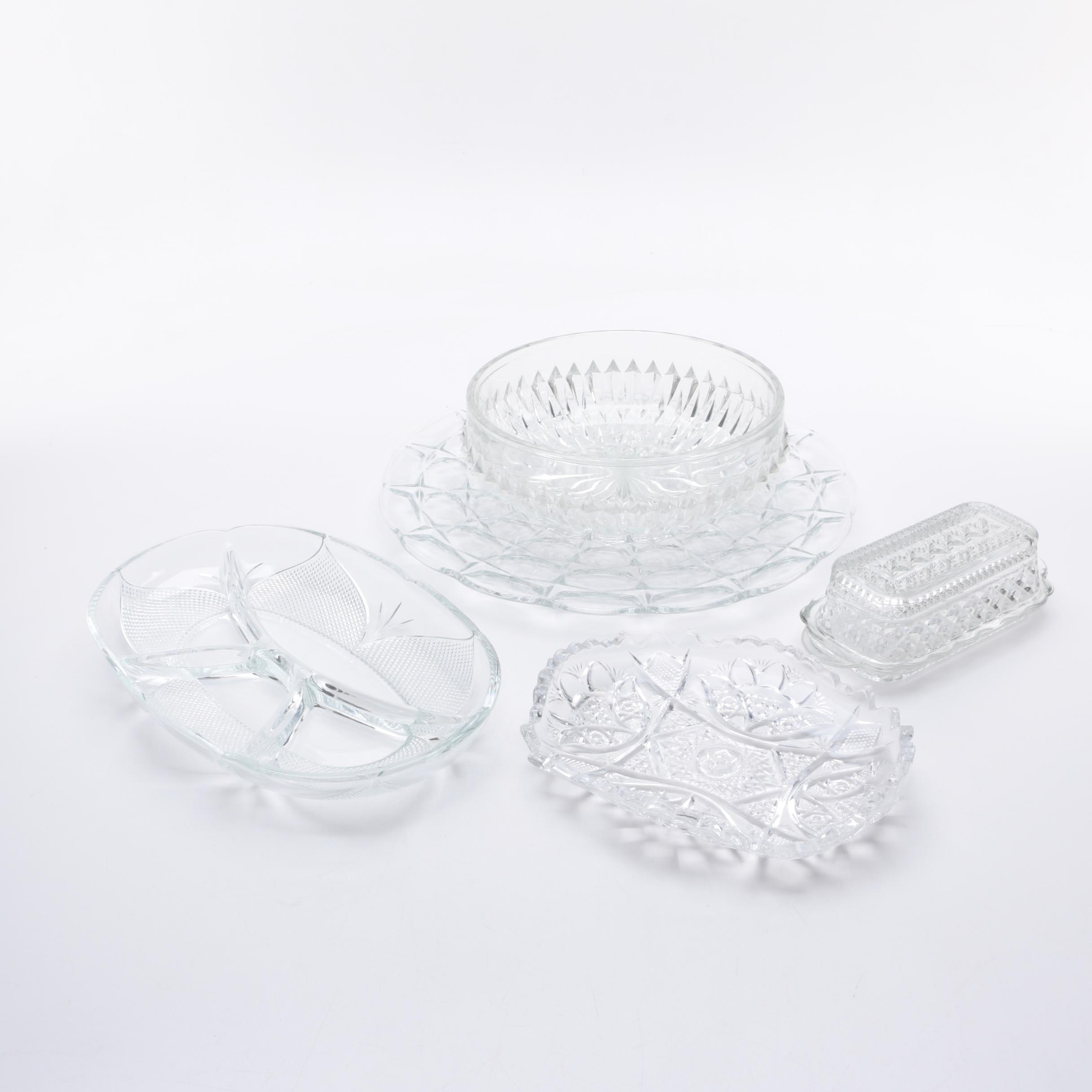 Crystal and Glass Serving Dishes