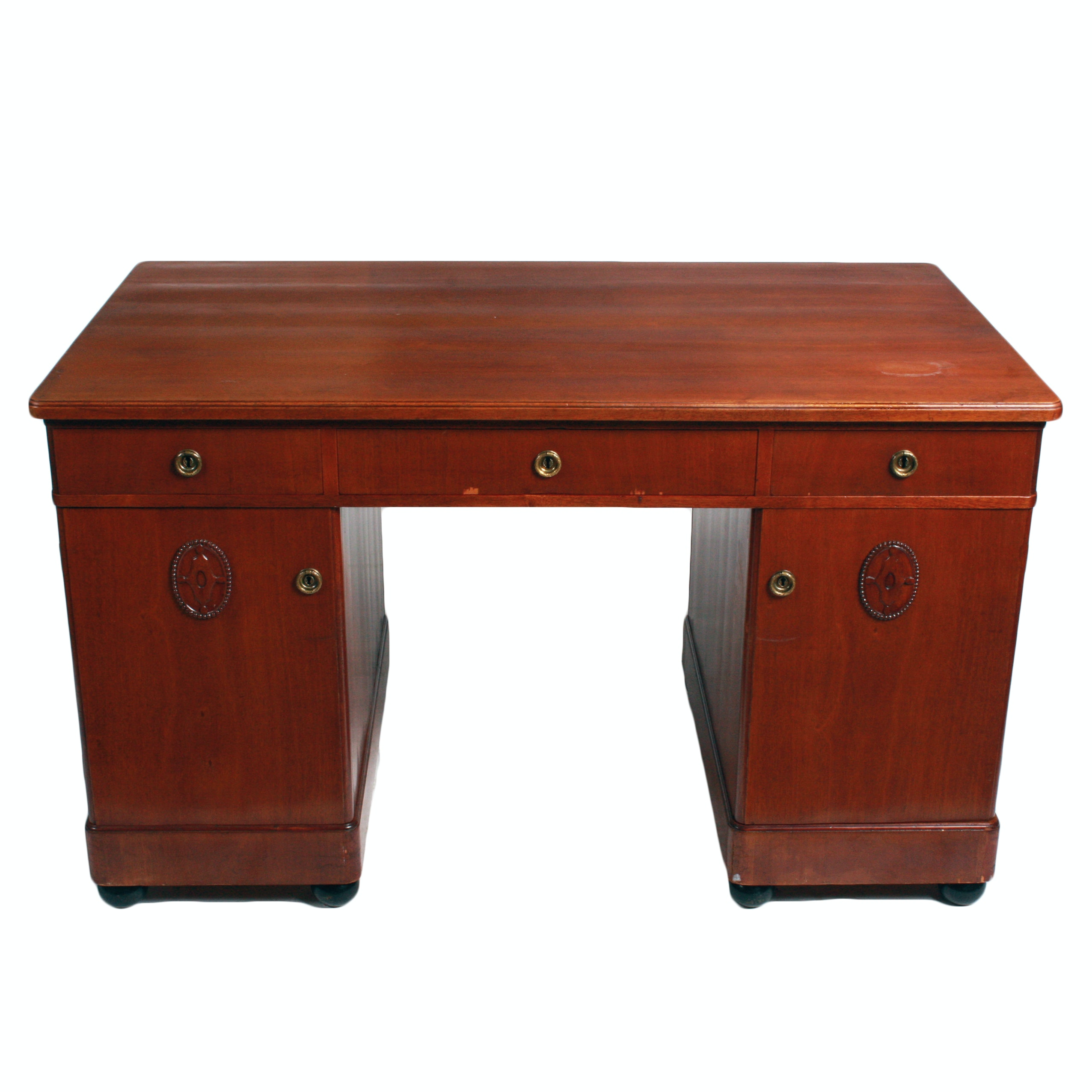 Vintage Cherry Veneered Kneehole Desk