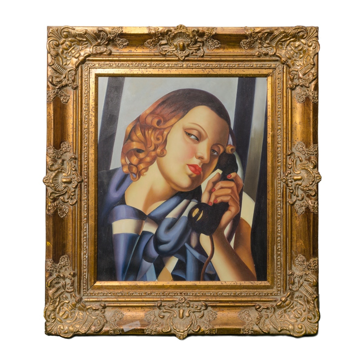 "Copy Oil Painting After Tamara de Lempicka ""The Telephone"""