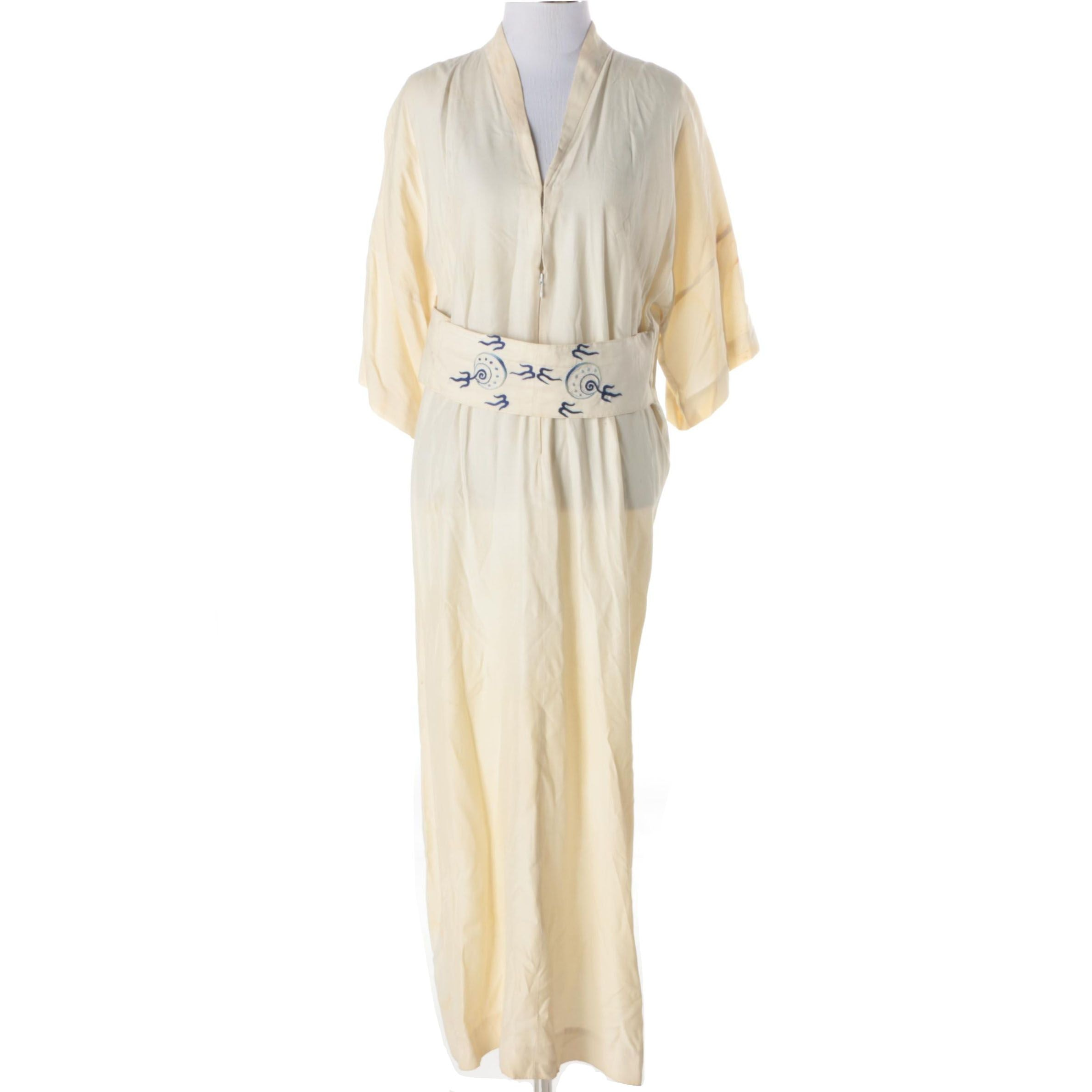 Women's Circa 1960s Vintage Dynasty Asian Inspired House Coat