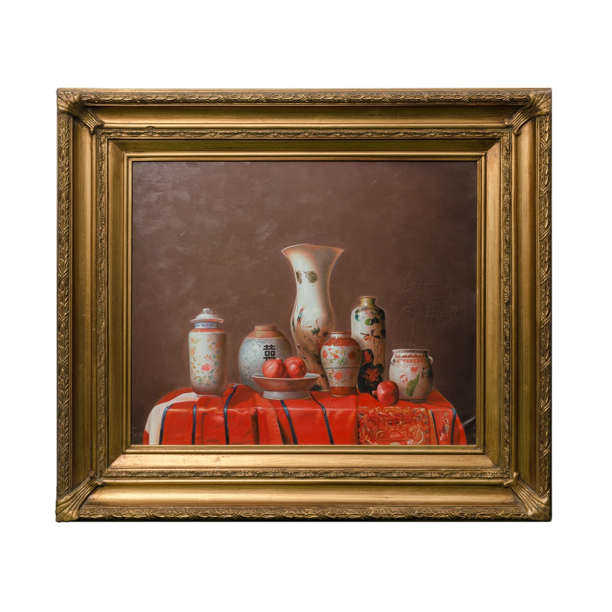 Oil Painting of Chinese Vases