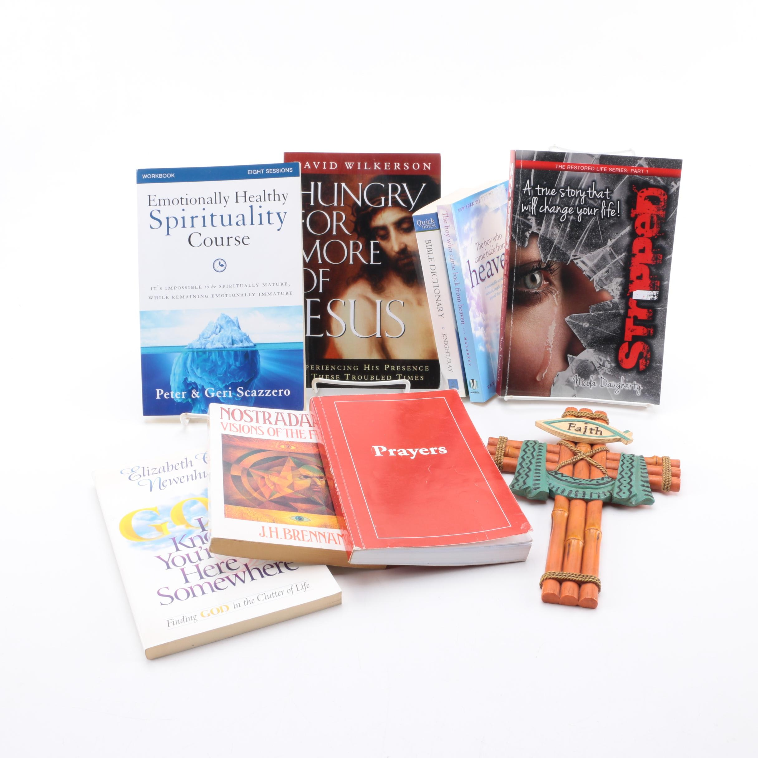 "Contemporary Christian Books Including Nicola Daugherty Signed ""Stripped"""