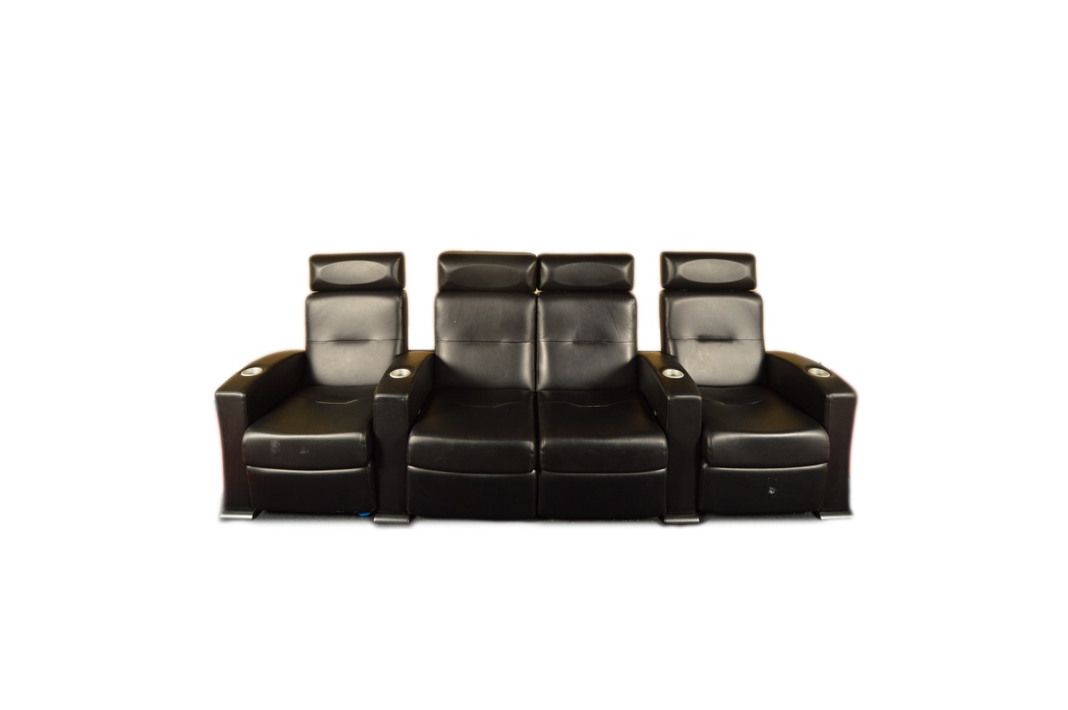 Black Leather Theater Seats