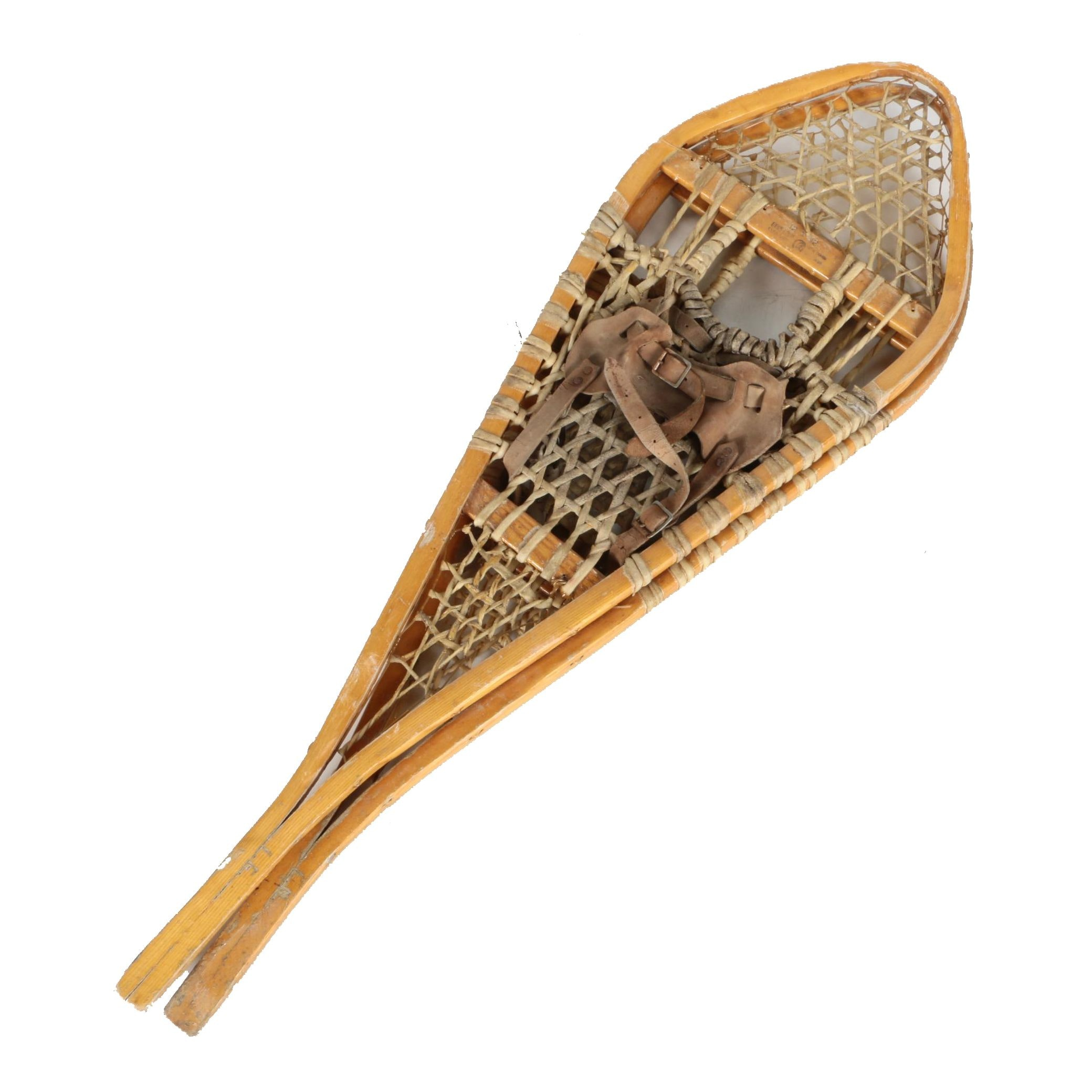 Antique Wicker Snowshoes by Gros Louis