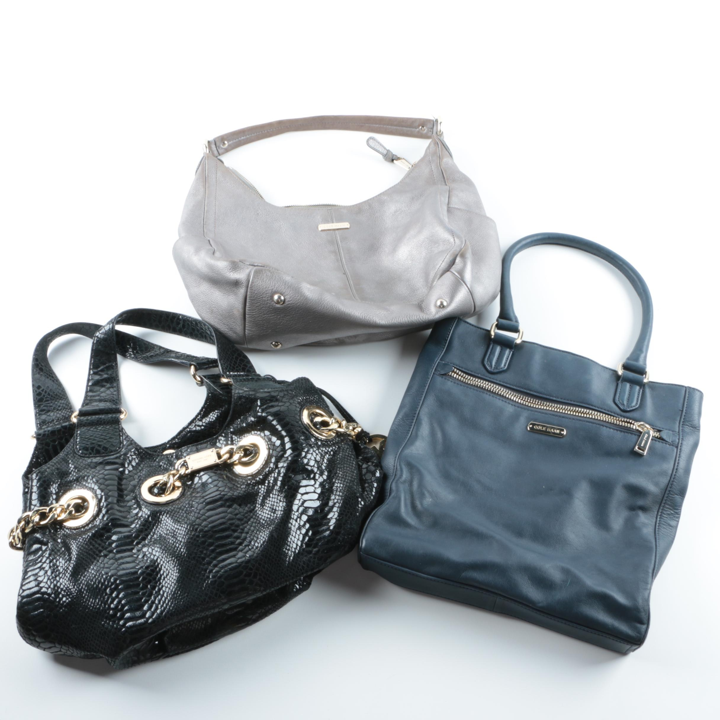Leather Handbags Including Michael Kors and Cole Haan