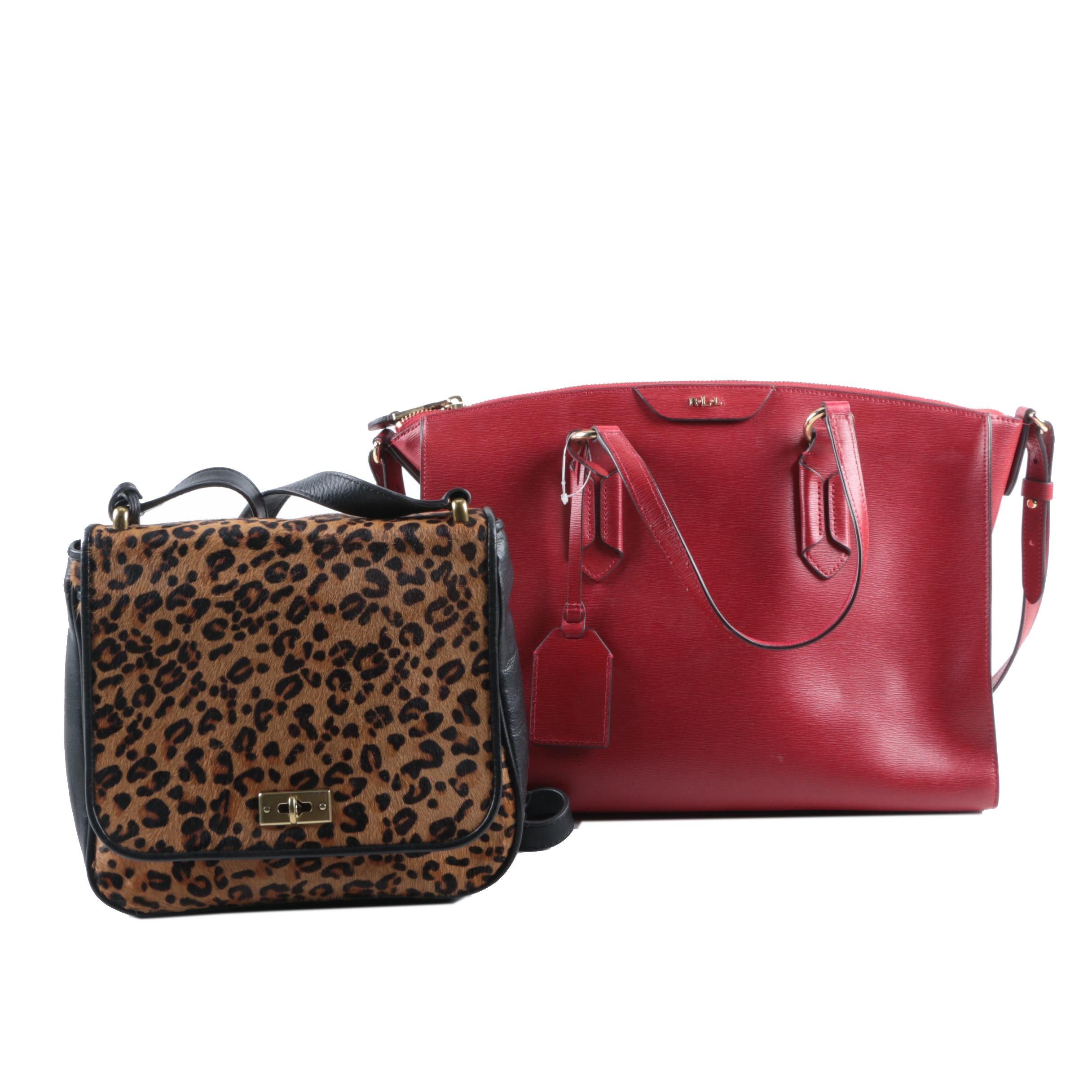 Lauren Ralph Lauren and Fossil Leather Handbags