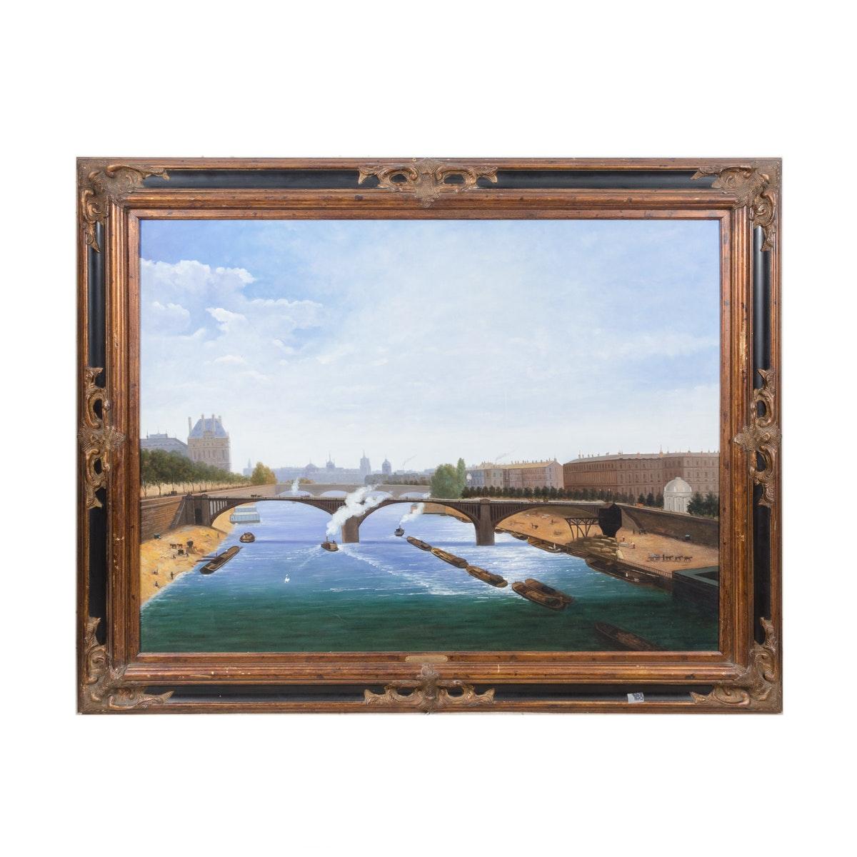 """Oil Painting """"Le Pont De Salferine Paris"""""""