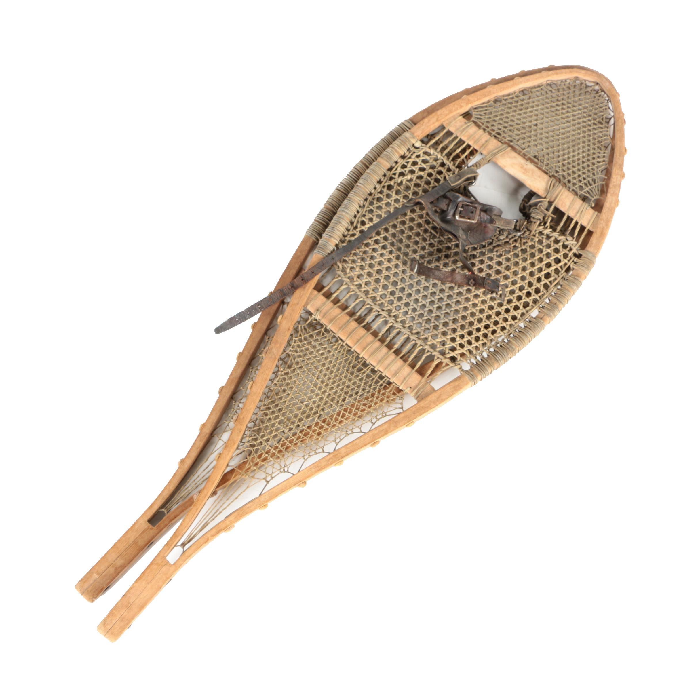 Vintage Wicker Snowshoes