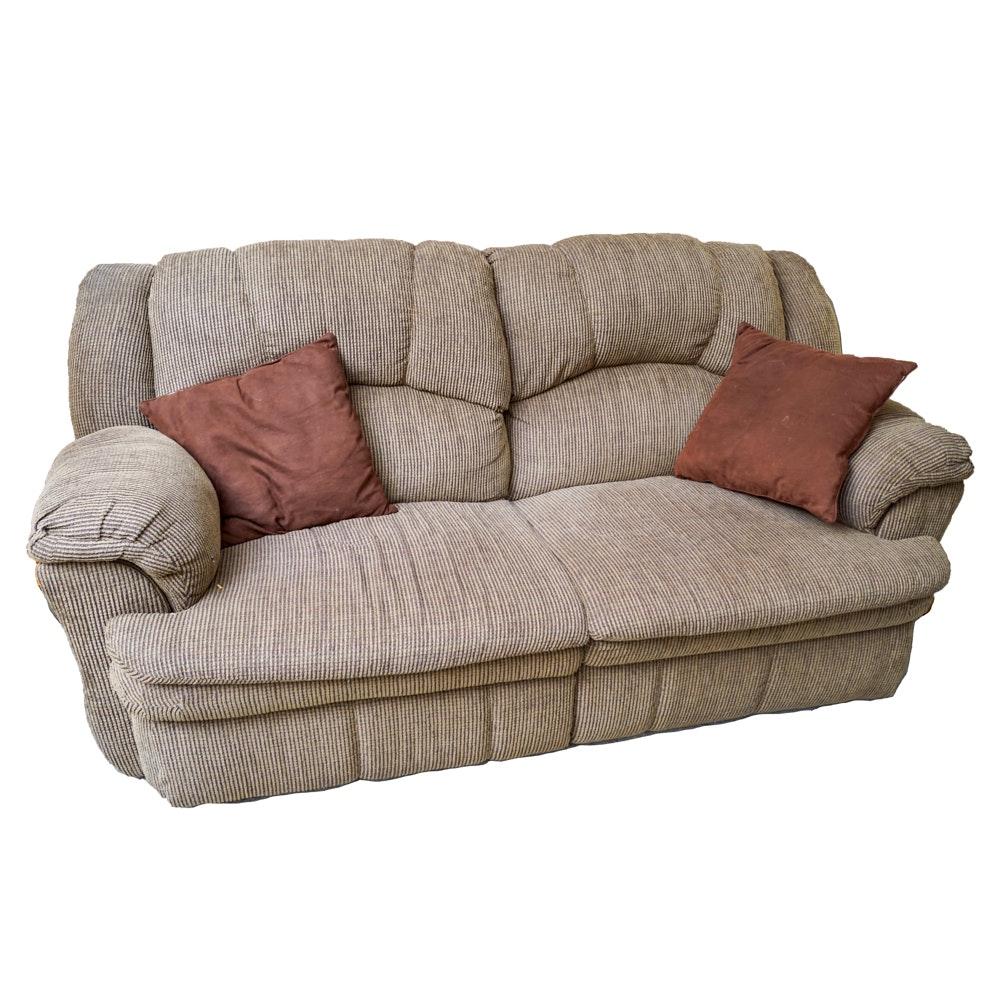 Contemporary Bustle Back Reclining Sofa