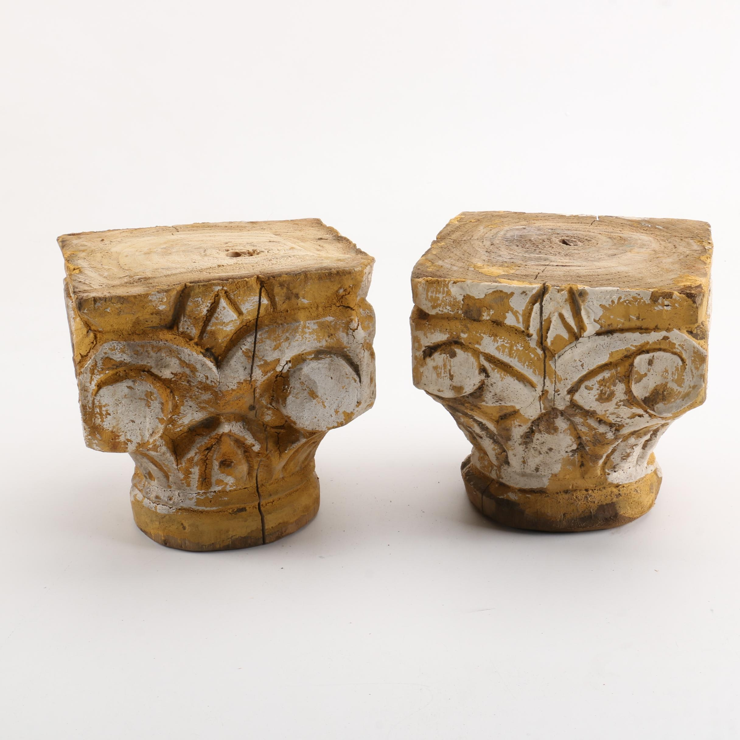 Carved Wooden Capitals