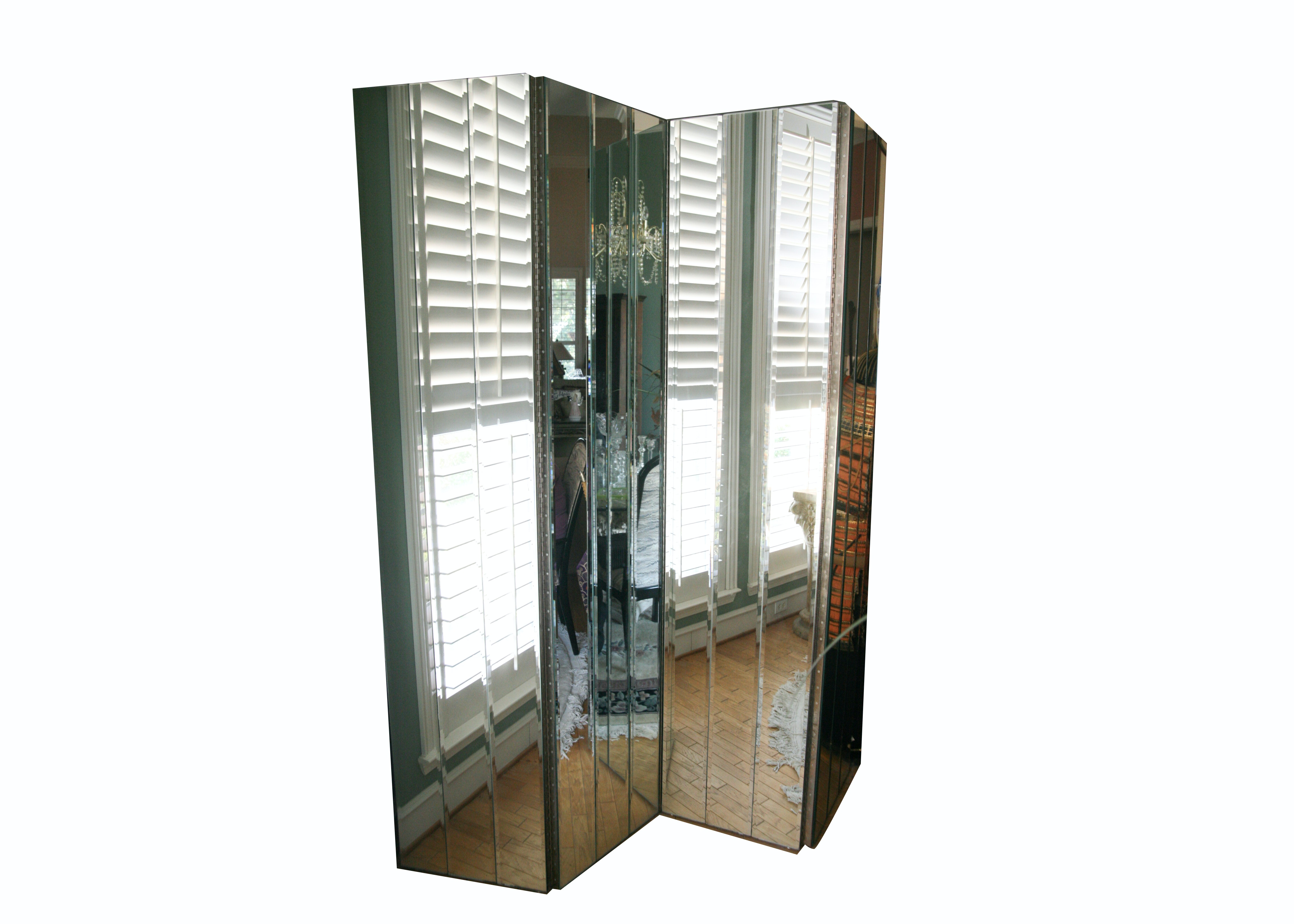Mirrored Room Divider Screen