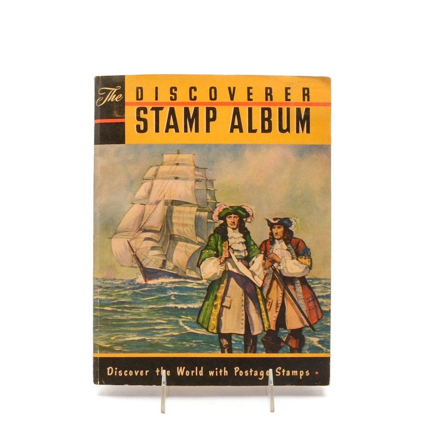 1958 The Discoverer Stamp Album EBTH