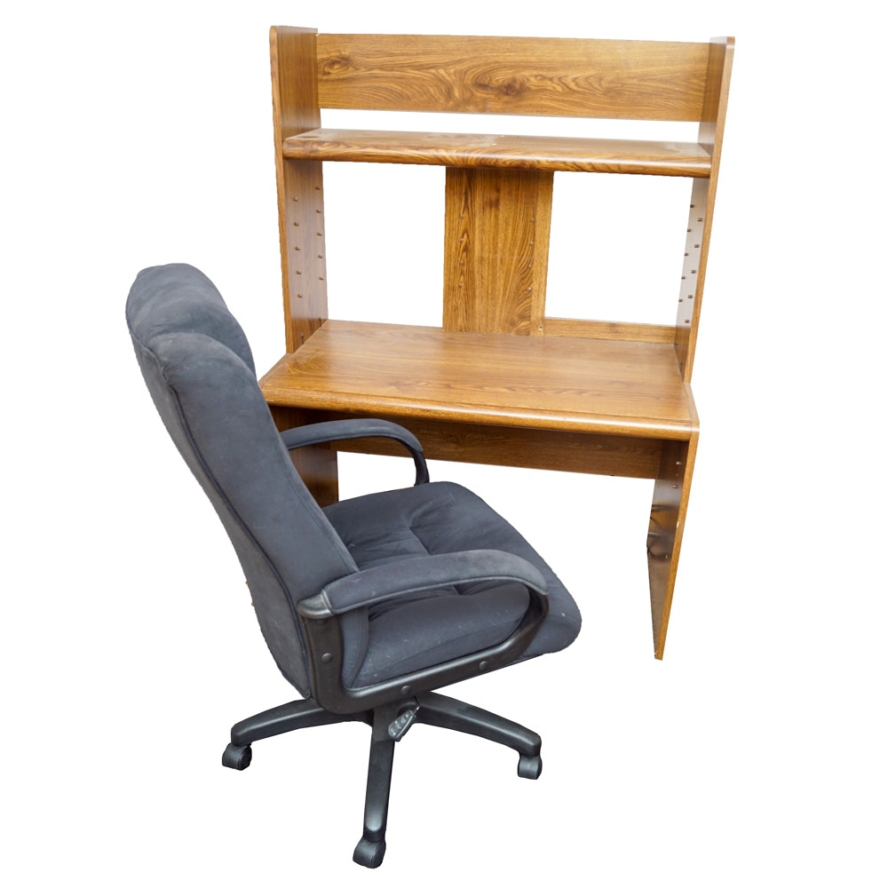 Computer Desk and Adjustable Office Chair