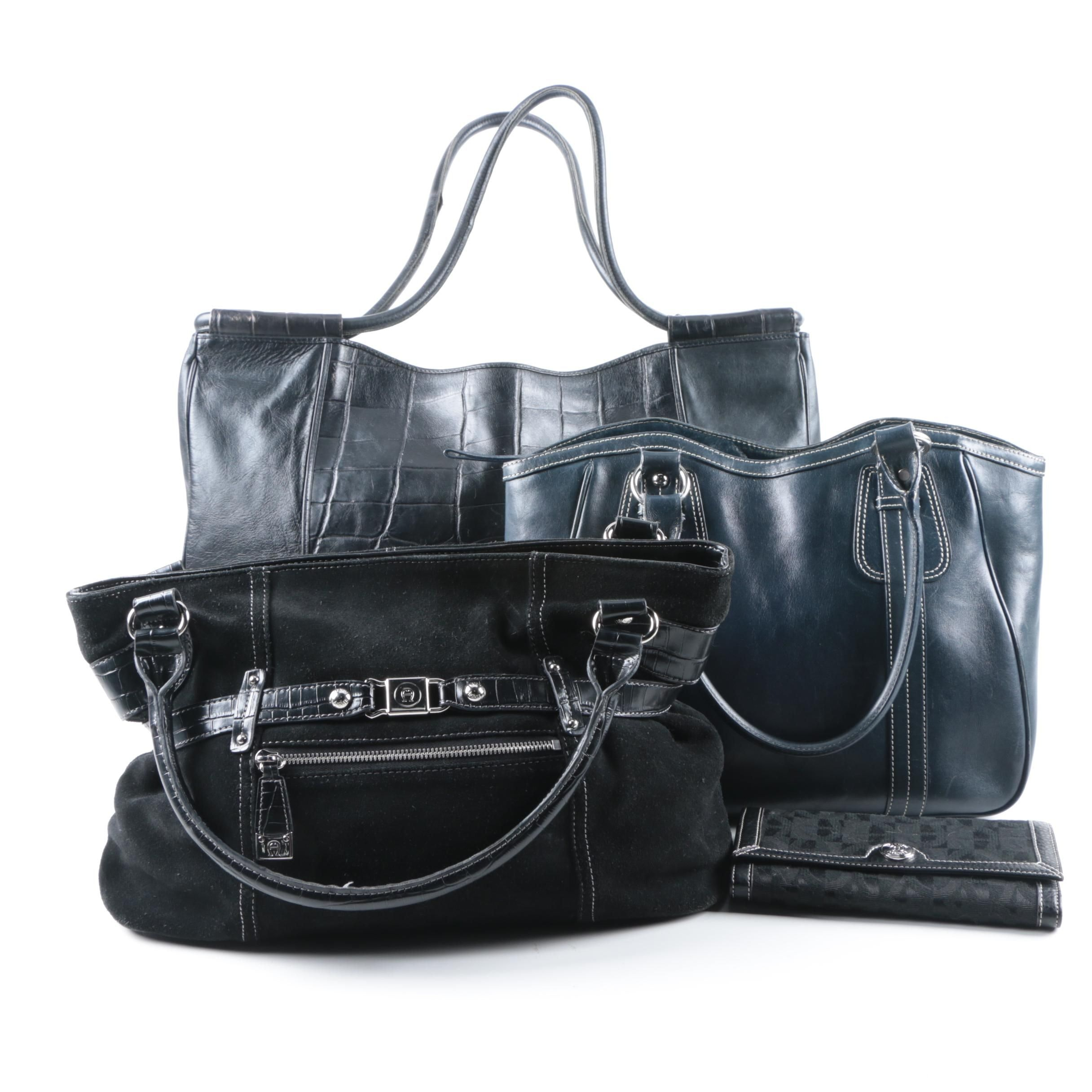 Leather Handbags and Wallet Including Etienne Aigner