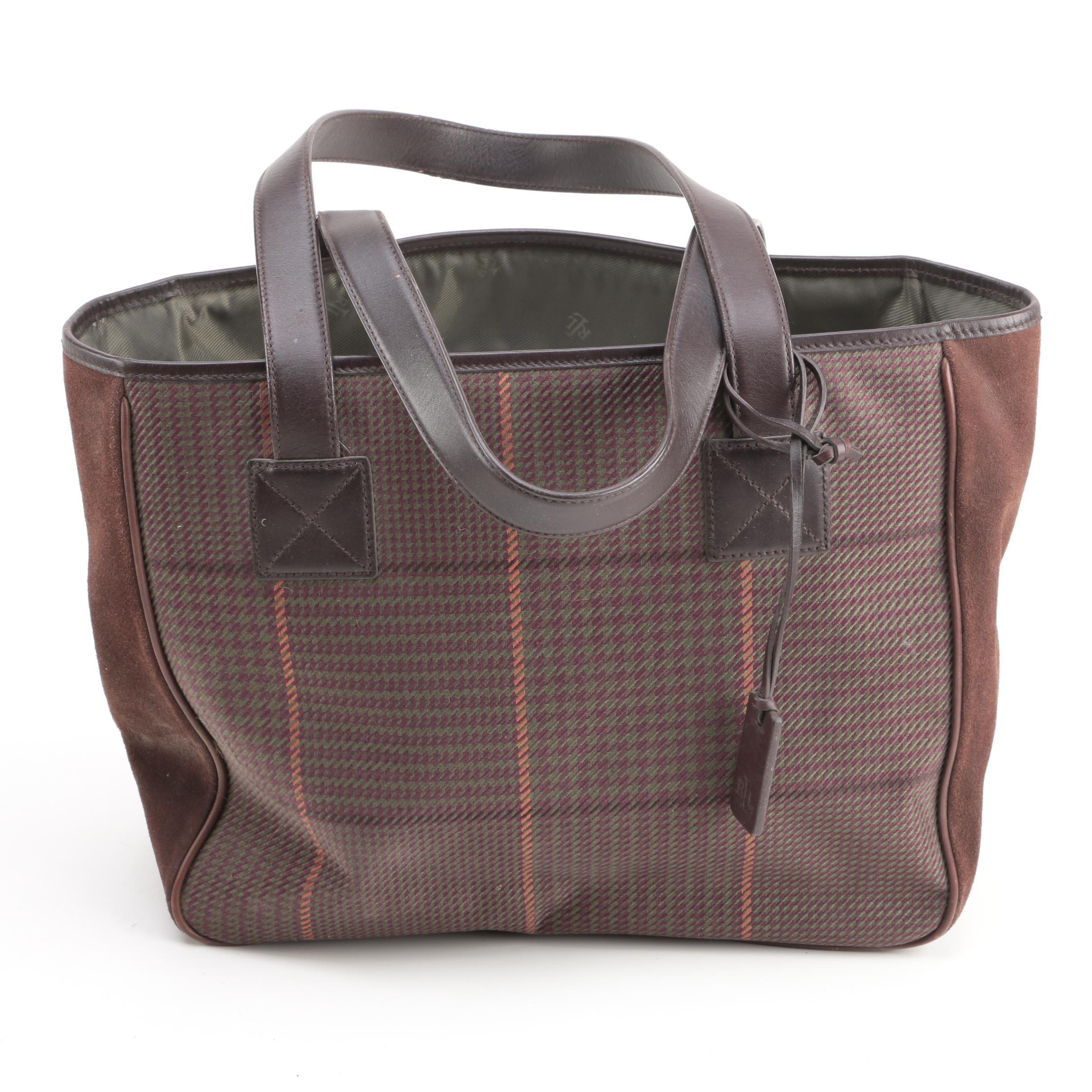 Lauren Ralph Lauren Houndstooth Handbag
