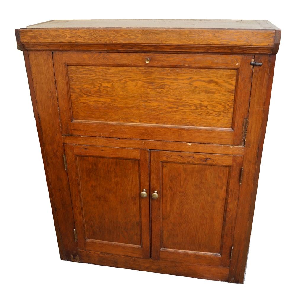 Vintage Pine Fall-Front Desk