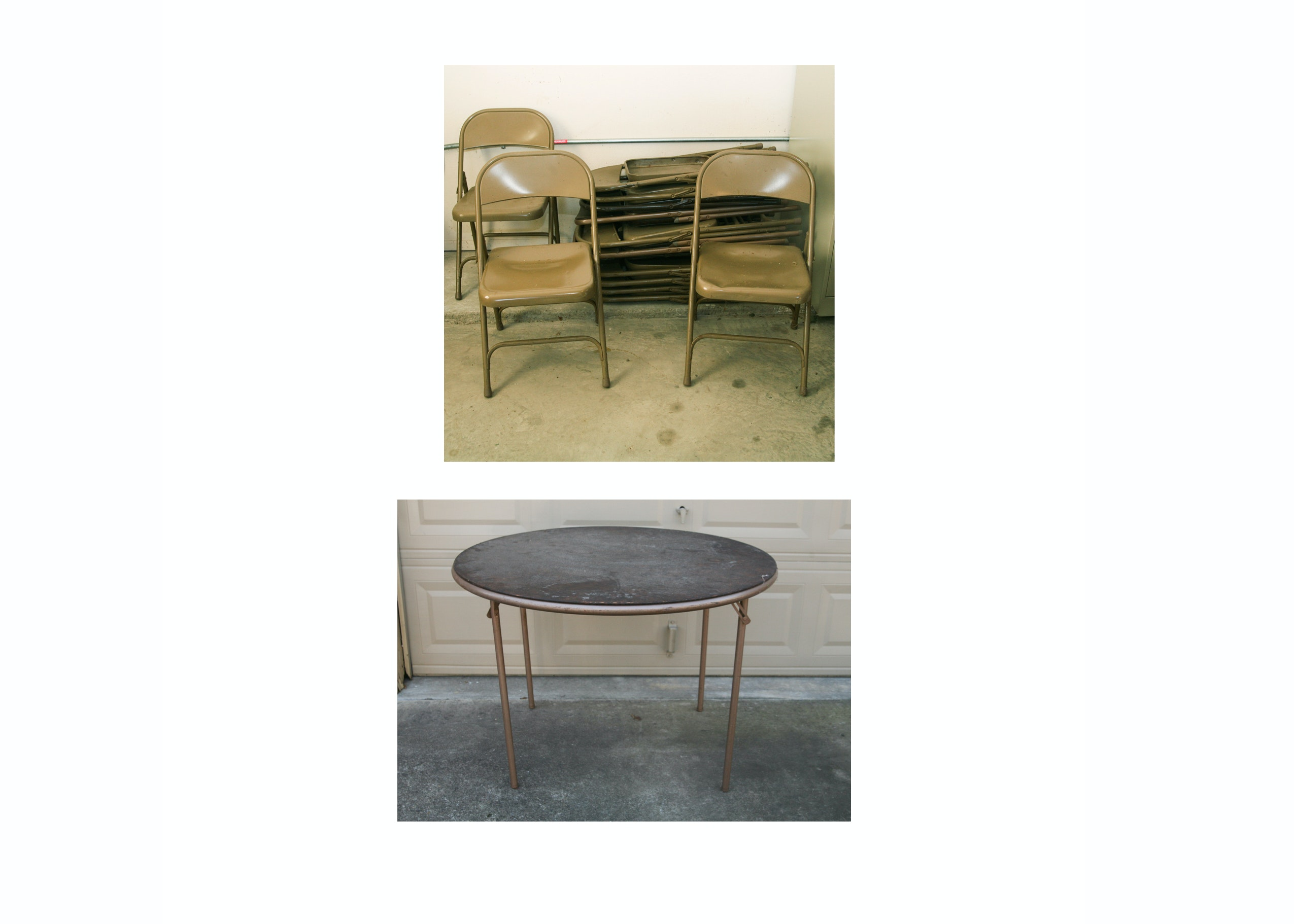 Folding Chairs and Table