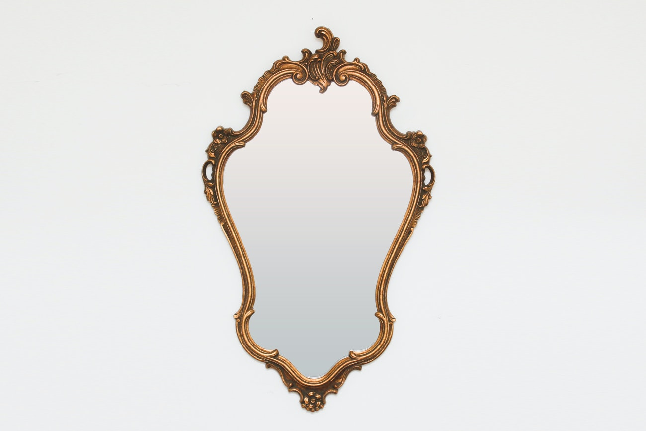 French Rococo-Style Wall Mirror