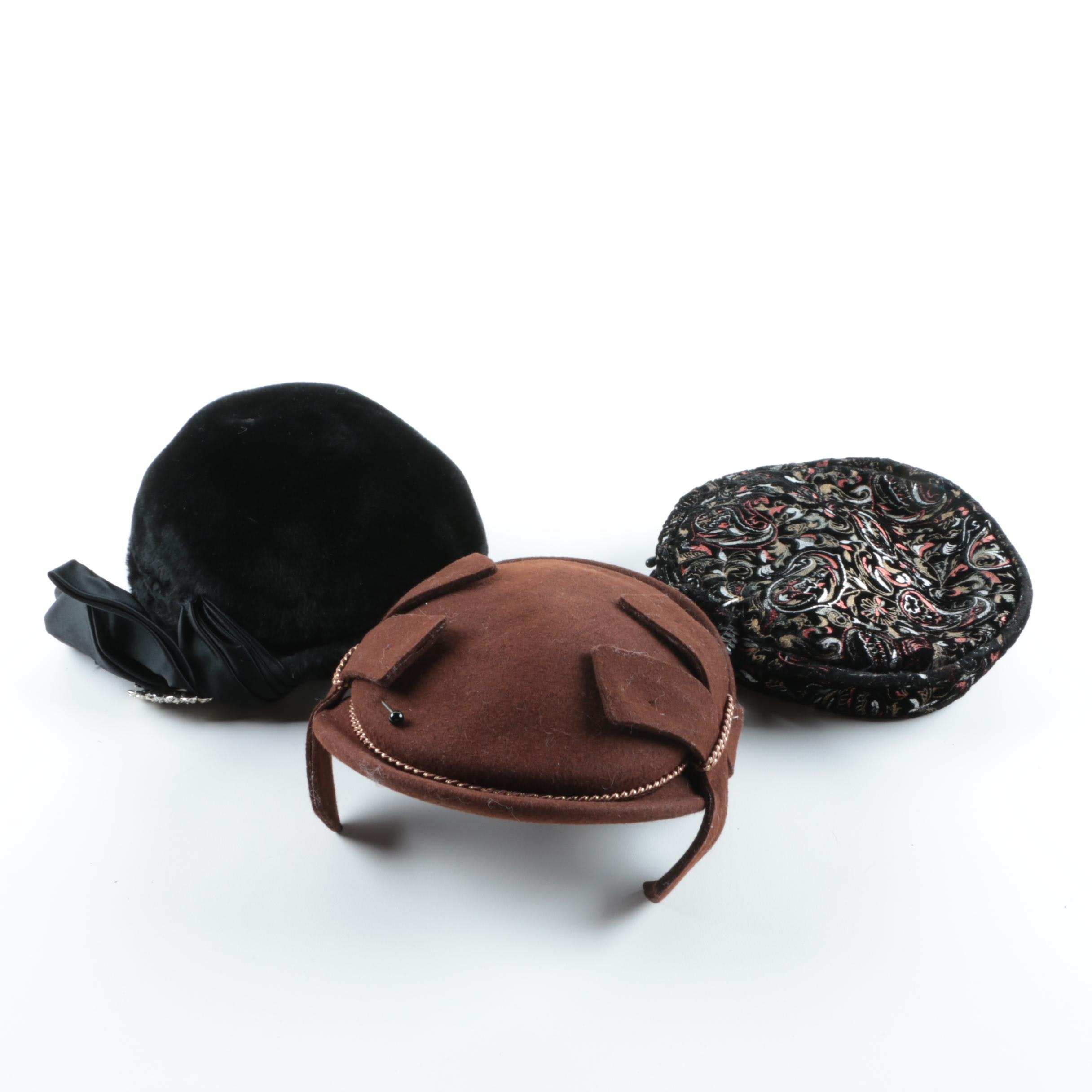 Women's Vintage Wool and Felted Fur Hats