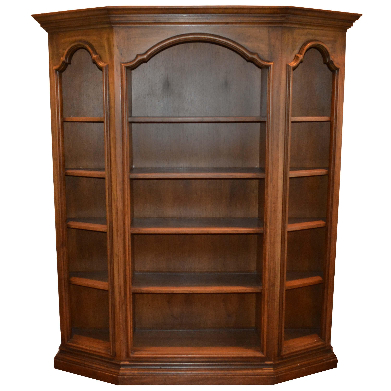 Walnut Finished Bookcase