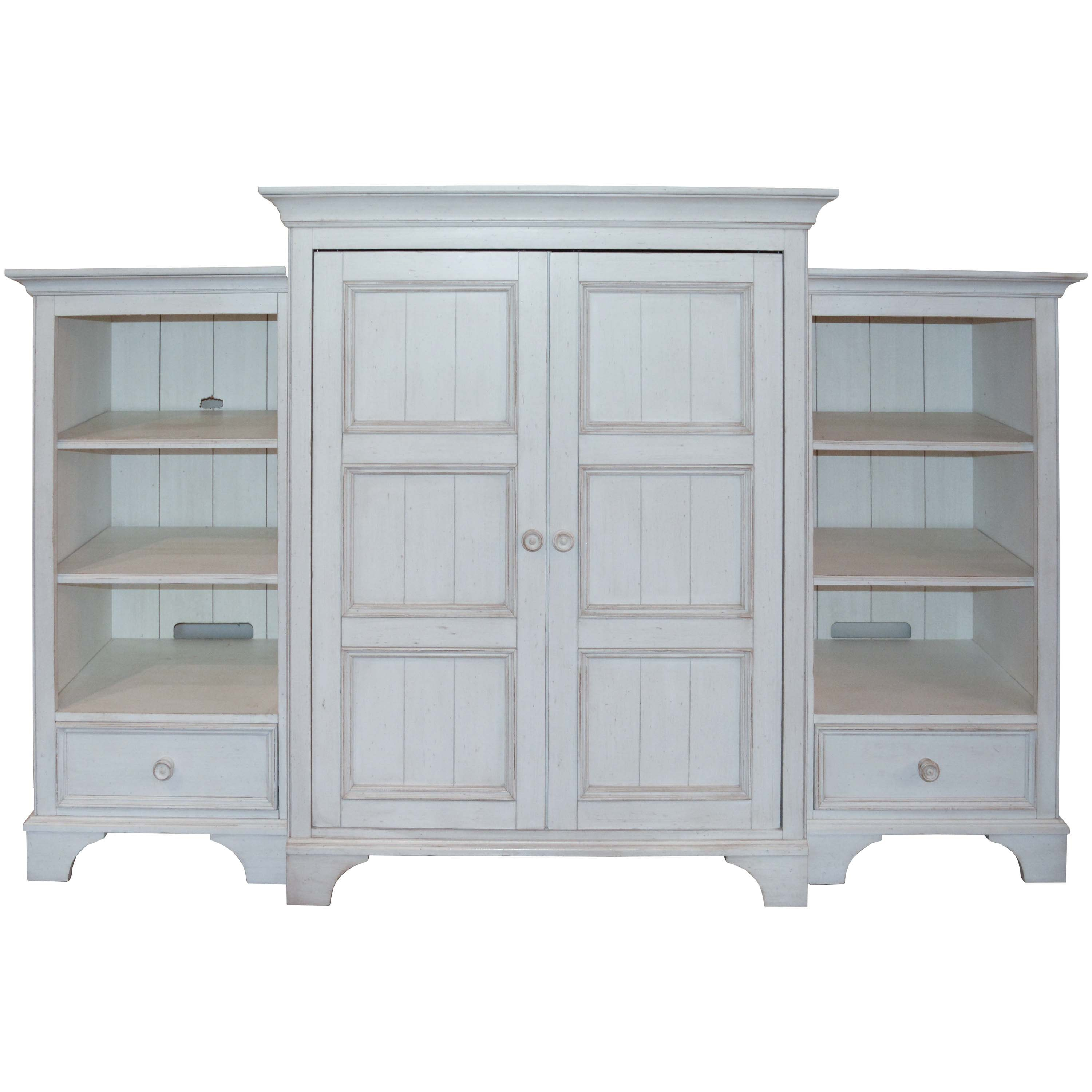 Three-Piece Distress Finished Entertainment Center