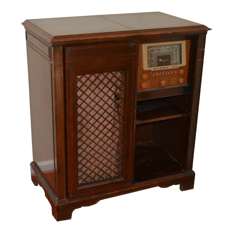 Vintage Magnavox Mahogany Stereo Cabinet