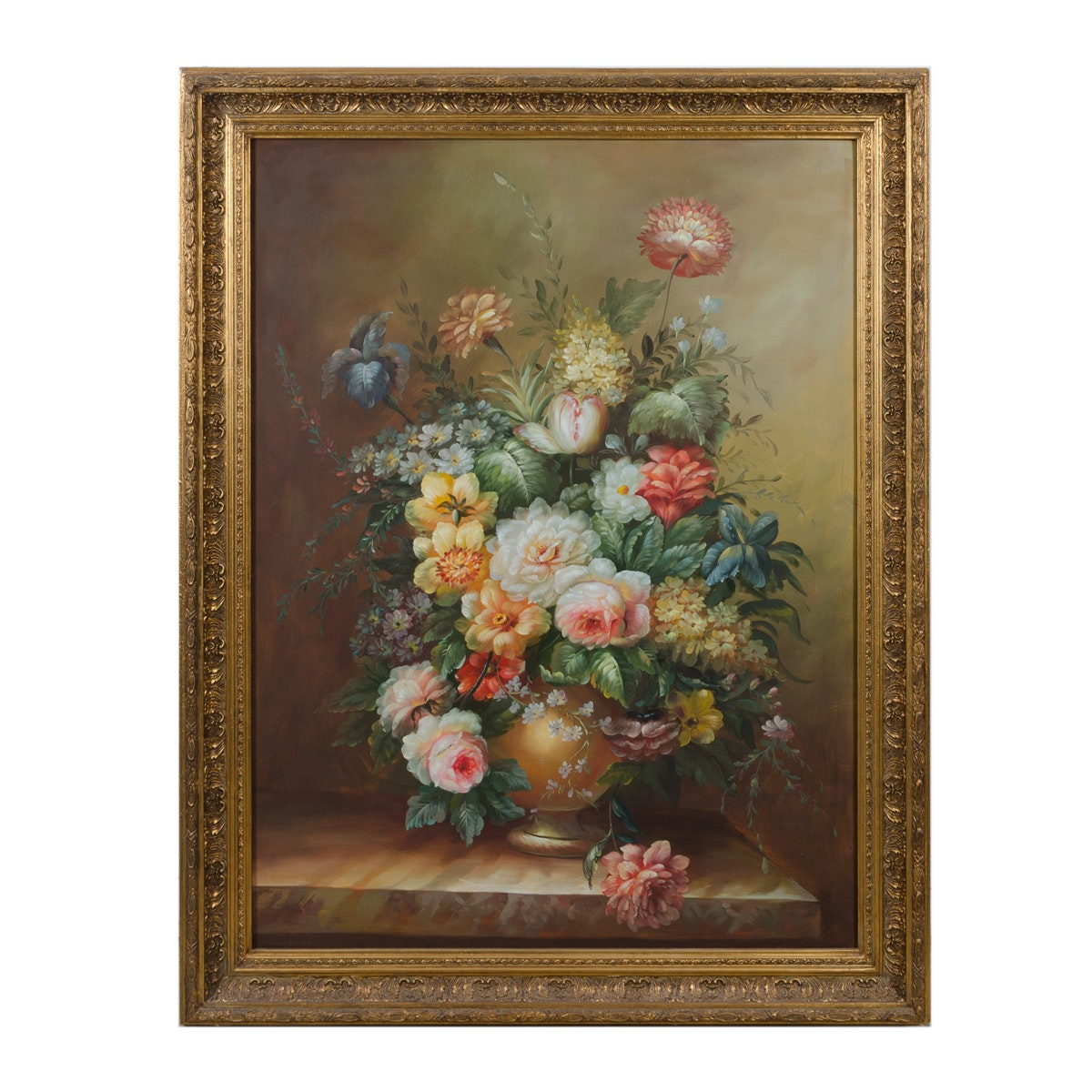 Oil Painting of Floral Still Life
