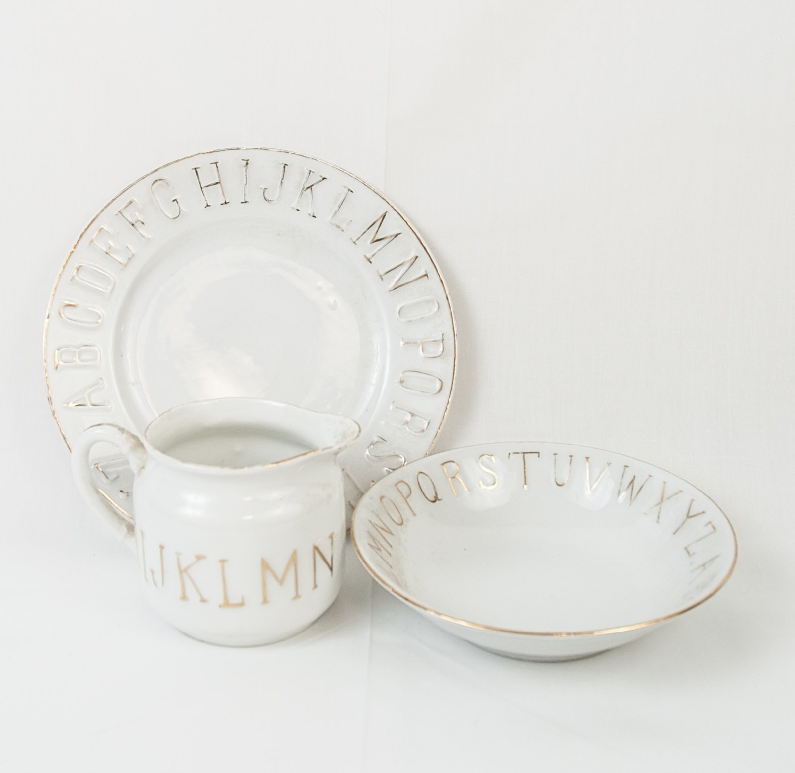 Vintage German Alphabet Tableware