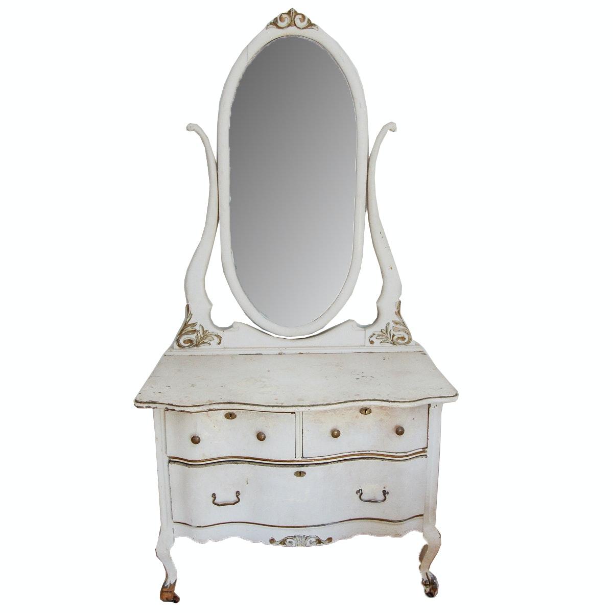 Vintage Victorian Style Painted Vanity