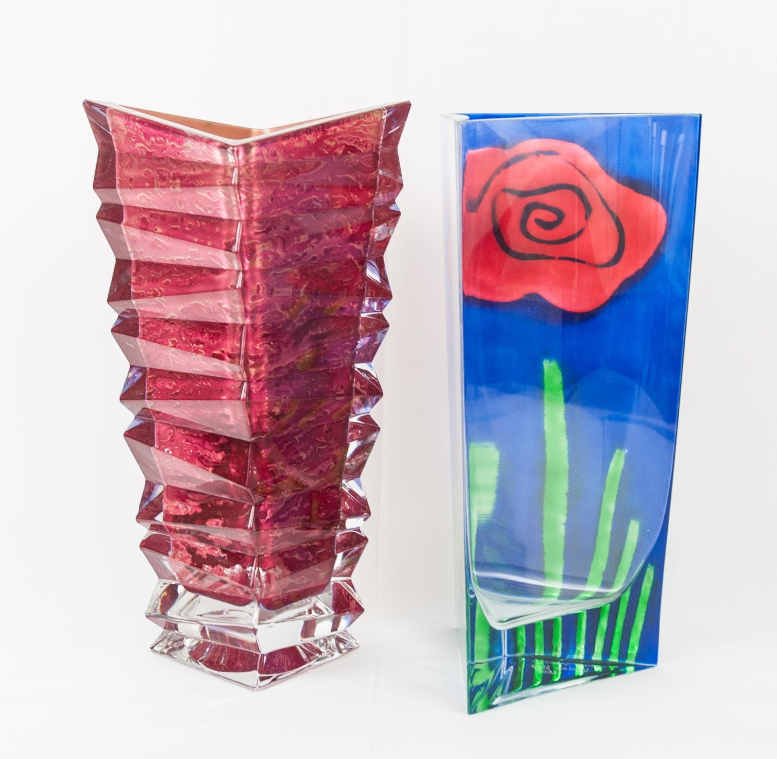 Signed Art Glass Vases