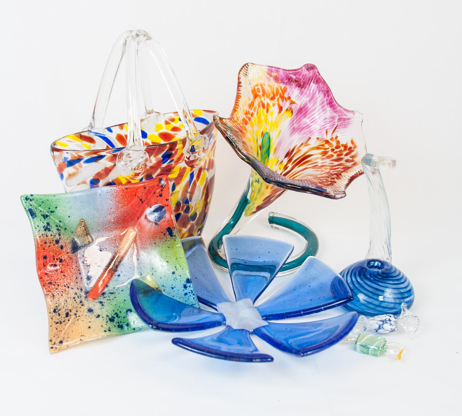 Collection of Art Glass Decor