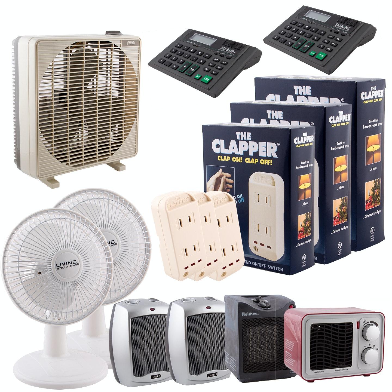 Clapper Sound Activators, Space Heaters, Fans and Calculators