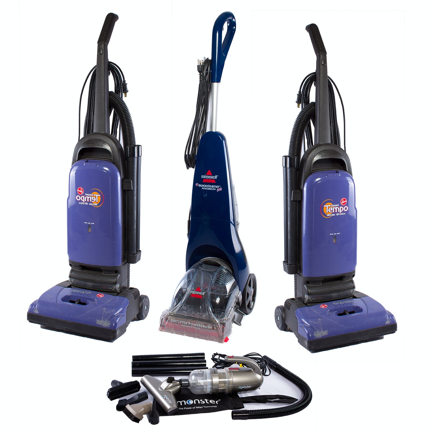 """Bissell """"Quicksteamer and Hoover """"Tempo"""" Vacuum Cleaners"""