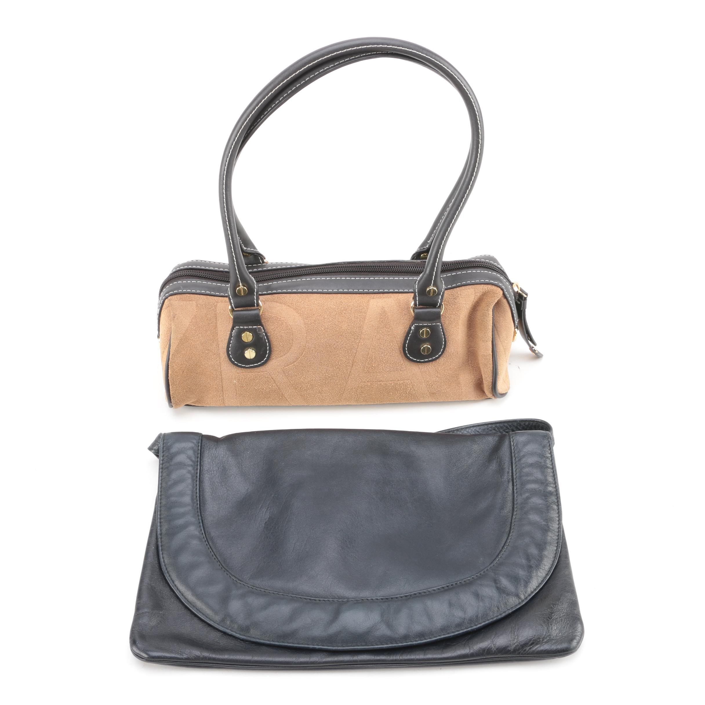 Suede and Leather Bags Including Isaac Mizrahi