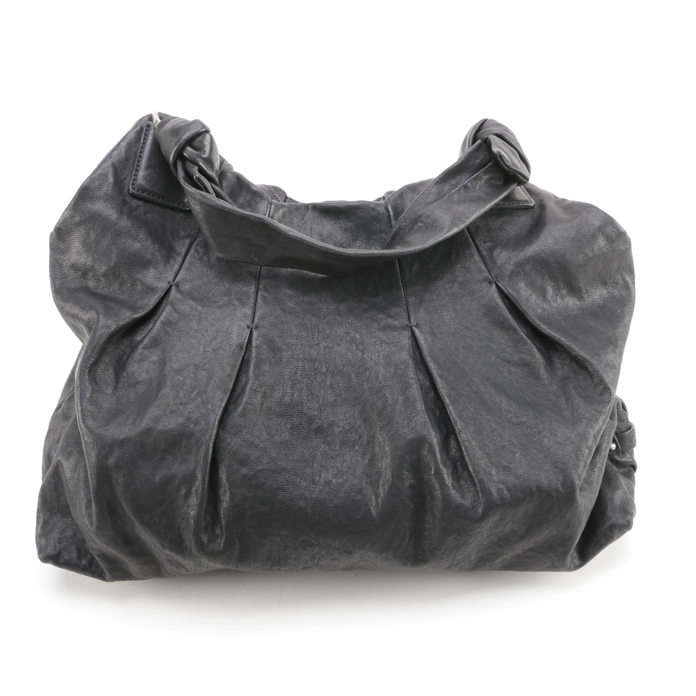 Cole Haan Black Leather Hobo Bag