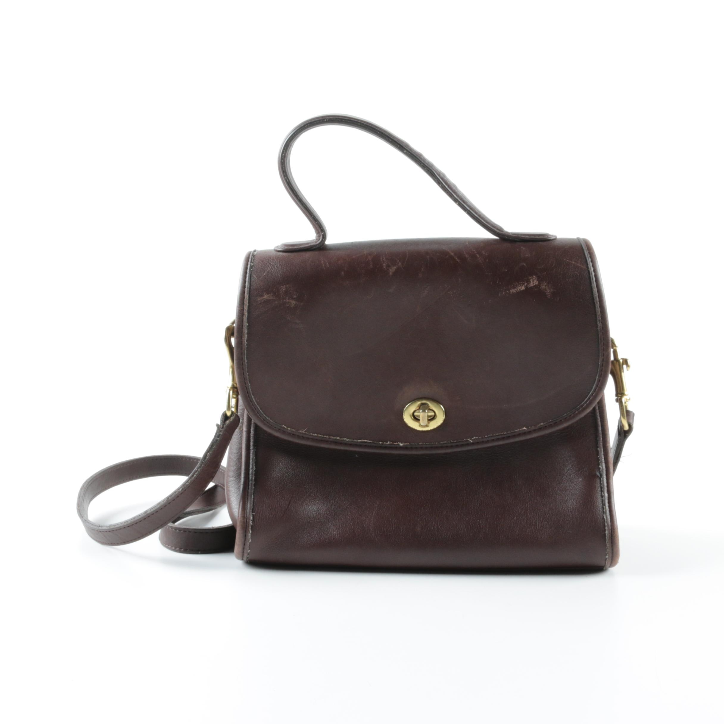 Coach Manor Brown Leather Crossbody Bag