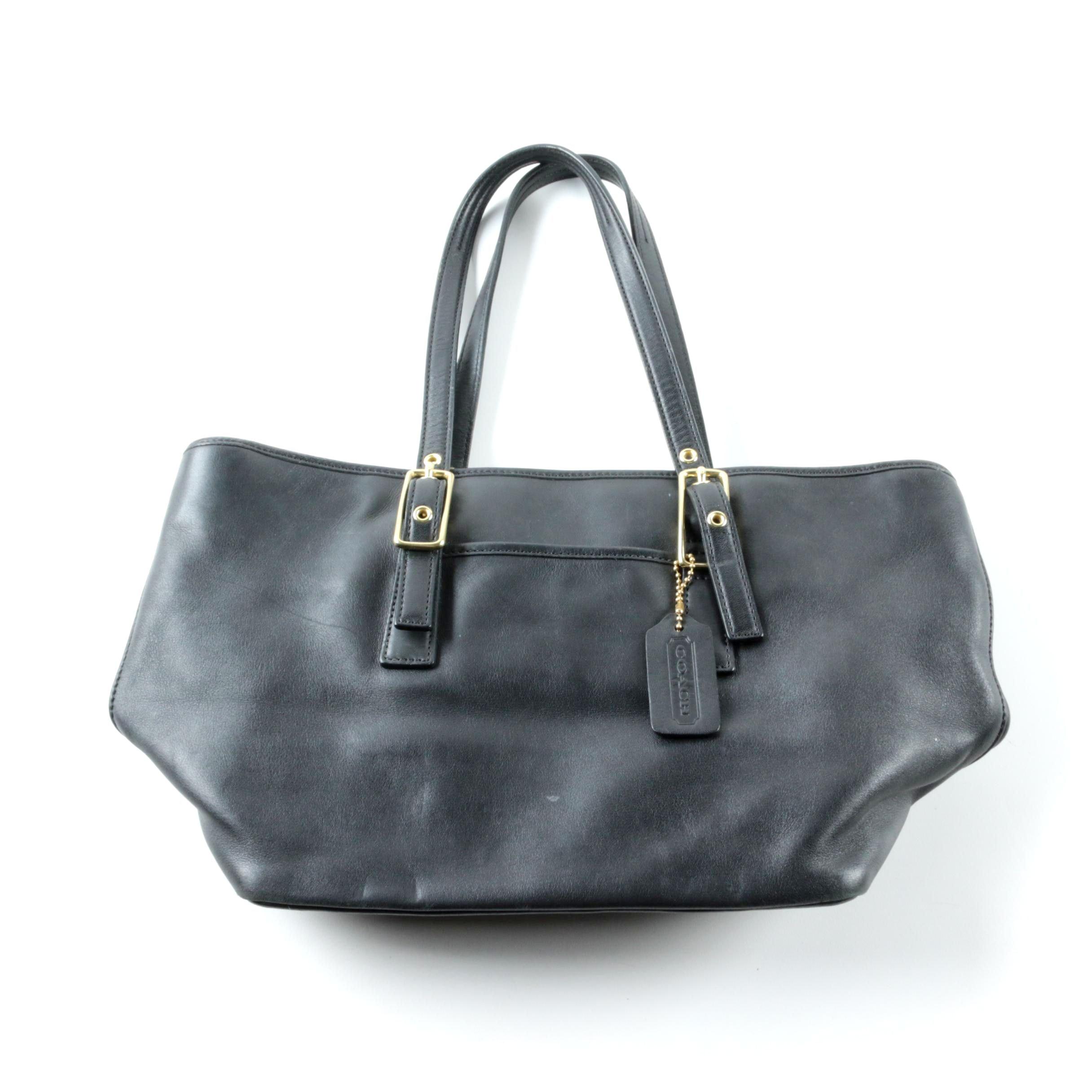 Coach Legacy Black Leather Market Tote Bag