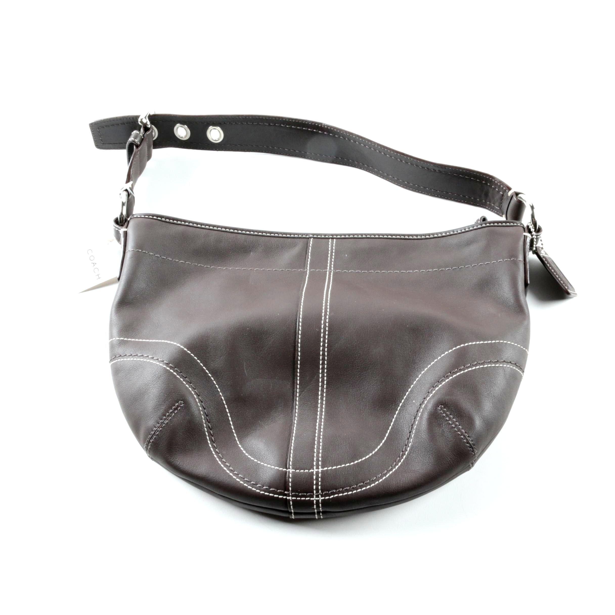Coach Soho Brown Leather Hobo Bag